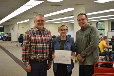 Fall 2018 Art in the Library Reception: Anna Allen, with Best of Show award