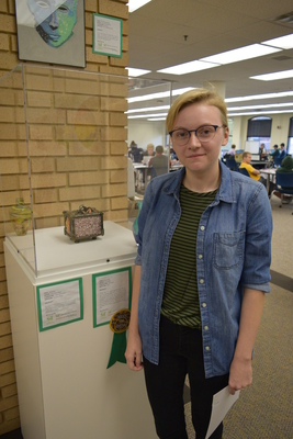 Fall 2018 Art in the Library Reception: Anna Allen, Forest Box, Best of Show