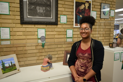 Fall 2018 Art in the Library Reception: Kyla James, The Modern Day Thinker, Notable Work
