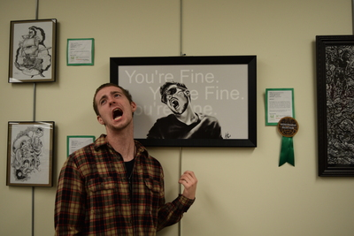 Fall 2018 Art in the Library Reception: Alexander Gott, Overcoming Self Sickness, Honorable Mention