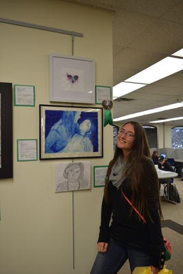 Fall 2018 Art in the Library Reception: Tatianna Reinbolt, Warsong, Honorable Mention