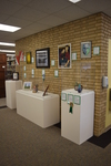 Fall 2018 Art in the Library Reception: Gallery wall