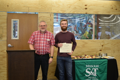 Art in the Library Exhibition Spring 2018, Roger Weaver and Ben Palmer with award