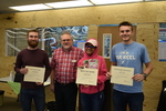 Art in the Library Exhibition Spring 2018, Ben Palmer, Erika Simple, Will Loos with awards
