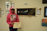 Art in the Library Exhibition Spring 2018, Erika Simple with award by art: Best of Show