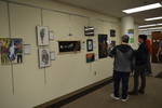 Art in the Library Exhibition Spring 2018, Gallery with viewers-2
