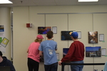Art in the Library Exhibition Spring 2018, Gallery with viewers-3