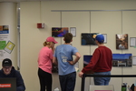 Art in the Library Exhibition Spring 2018, Gallery with viewers-4