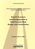 (1992) - 11th International Specialty Conference on Cold-Formed Steel Structures