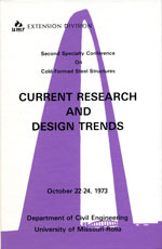 (1973) -  2nd International Specialty Conference on Cold-Formed Steel Structures
