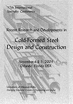 (2004) - 17th International Specialty Conference on Cold-Formed Steel Structures