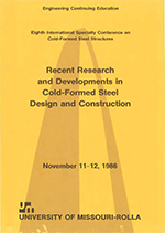 (1986) -  8th International Specialty Conference on Cold-Formed Steel Structures