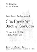 (2000) - 15th International Specialty Conference on Cold-Formed Steel Structures
