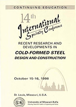 (1998) - 14th International Specialty Conference on Cold-Formed Steel Structures