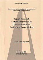 (1994) - 12th International Specialty Conference on Cold-Formed Steel Structures