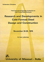(1975) -  3rd International Specialty Conference on Cold-Formed Steel Structures
