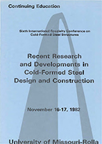 (1982) -  6th International Specialty Conference on Cold-Formed Steel Structures