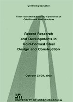(1990) - 10th International Specialty Conference on Cold-Formed Steel Structures