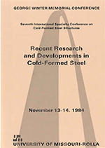 (1984) -  7th International Specialty Conference on Cold-Formed Steel Structures