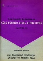 (1971) -  1st International Specialty Conference on Cold-Formed Steel Structures