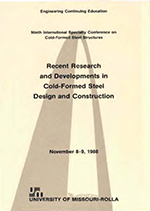 (1988) -  9th International Specialty Conference on Cold-Formed Steel Structures