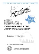 (1996) - 13th International Specialty Conference on Cold-Formed Steel Structures