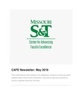 May 2018 CAFE Newsletter by Center for Advancing Faculty Excellence