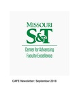 September 2018 CAFE Newsletter by Center for Advancing Faculty Excellence