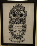 Zentangle Owl by Kelly-Marie M. Christensen
