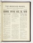 The Missouri Miner, August 16, 1918
