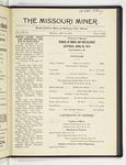 The Missouri Miner, April 26, 1919