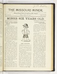 The Missouri Miner, January 28, 1921