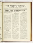 The Missouri Miner, January 29, 1923