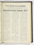 The Missouri Miner, January 19, 1925