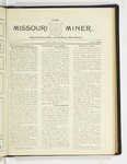 The Missouri Miner, March 30, 1925
