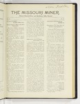 The Missouri Miner, January 25, 1926