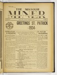 The Missouri Miner, March 13, 1934