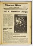 The Missouri Miner, November 11, 1976