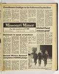 The Missouri Miner, November 12, 1981