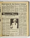 The Missouri Miner, November, 19, 1981