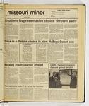 The Missouri Miner, January 15, 1986
