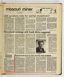 The Missouri Miner, January 22, 1986
