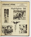The Missouri Miner, March, 19, 1986 -- St. Pat's Recovery Issue
