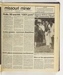 The Missouri Miner, October 21, 1986