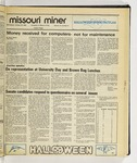 The Missouri Miner, October 29, 1986