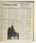 The Missouri Miner, November 19, 1986