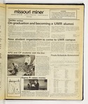 The Missouri Miner, April 29, 1987