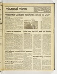 The Missouri Miner, September 23, 1987