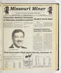 The Missouri Miner, November 28, 1990