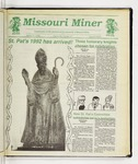 The Missouri Miner, March 11, 1992